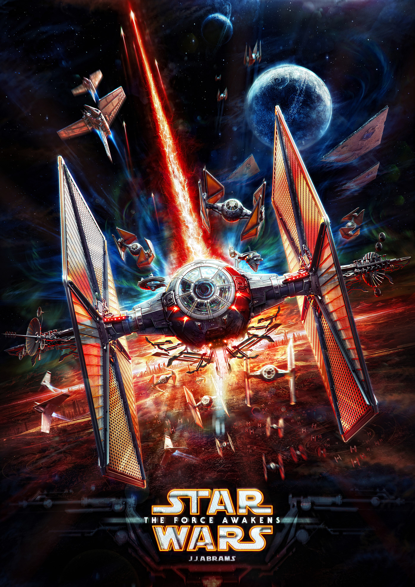 print poster concept alekscg kuskov the dark side star wars Fan Art spaceship 3D