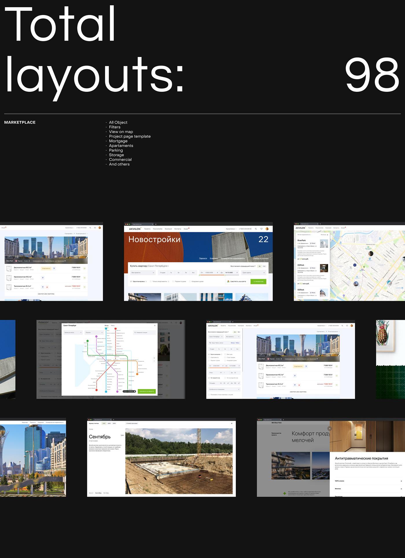 real estate building corporative e-commerce grid Marketplace mobile shop Website architecture