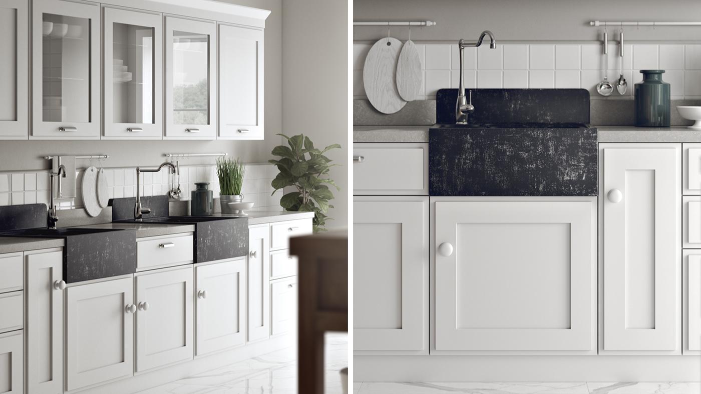 Scavolini kitchen 3d render on behance for Scavolini kitchens