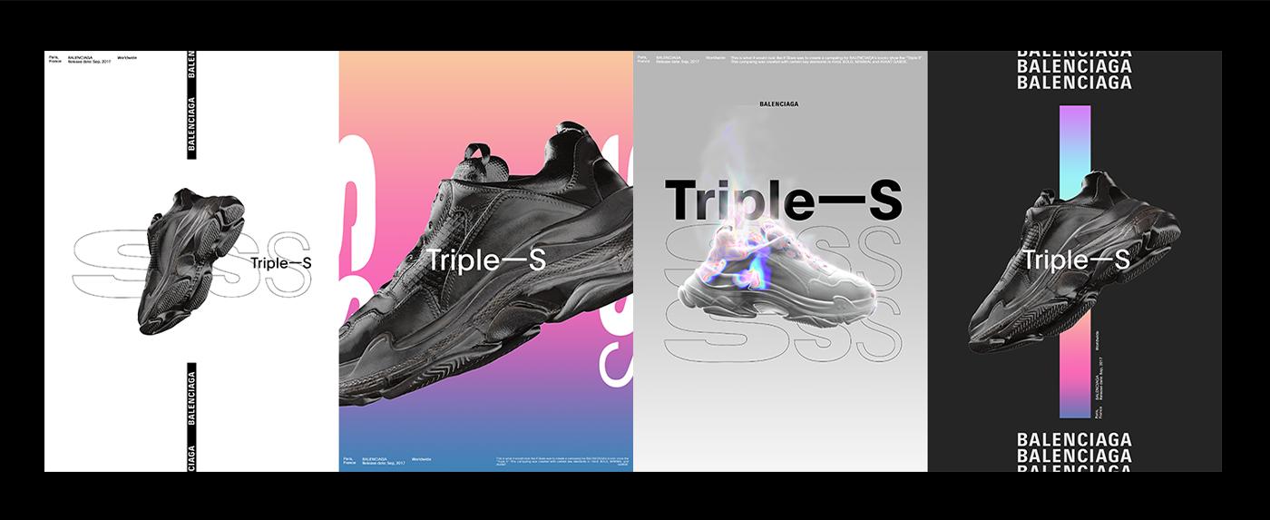 Fashion  3D Balenciaga modern shoes motion design cool experimental Render
