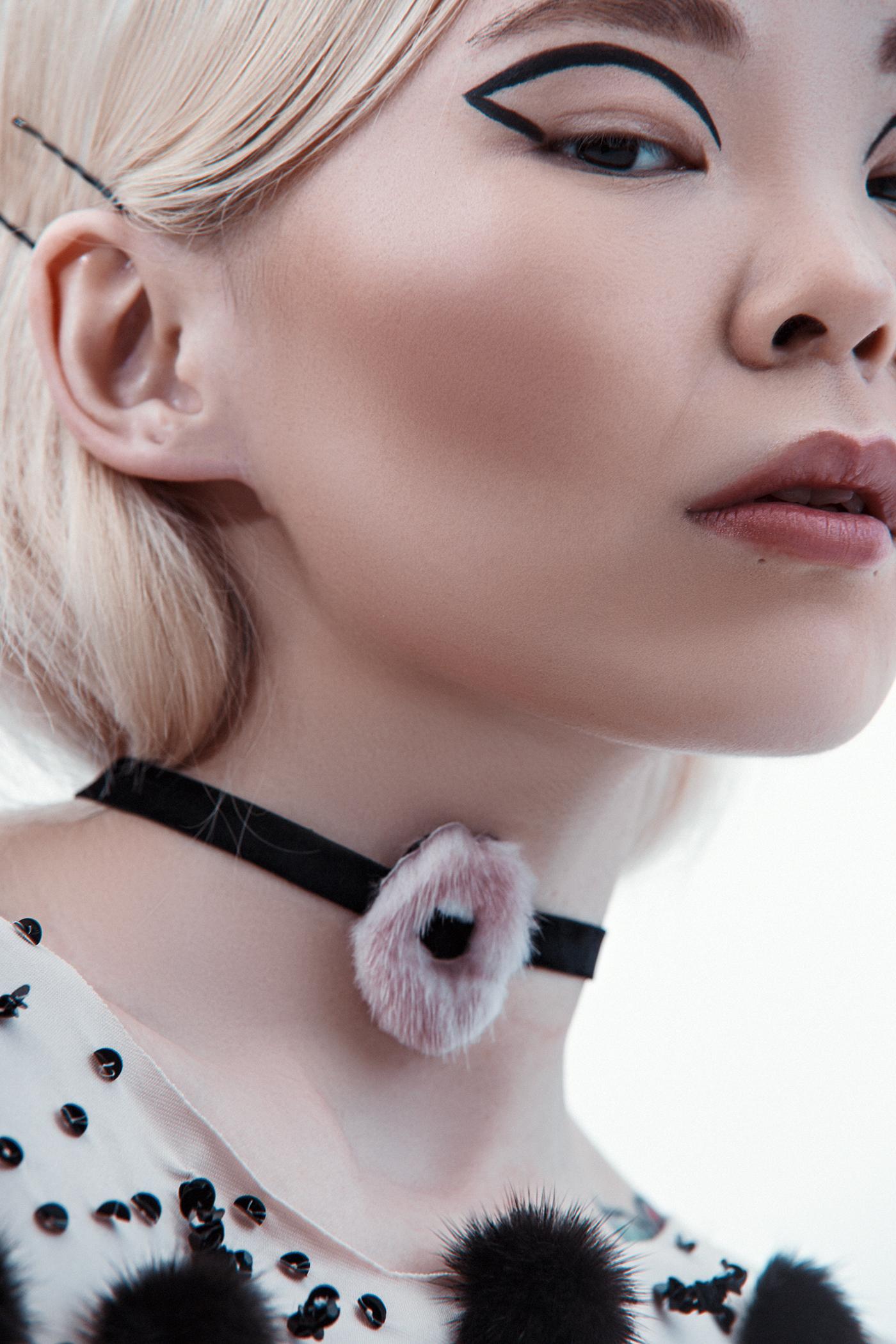Fashion  Costume Design  Fur tattoo sidera creative sidera fashion photography mink makeup