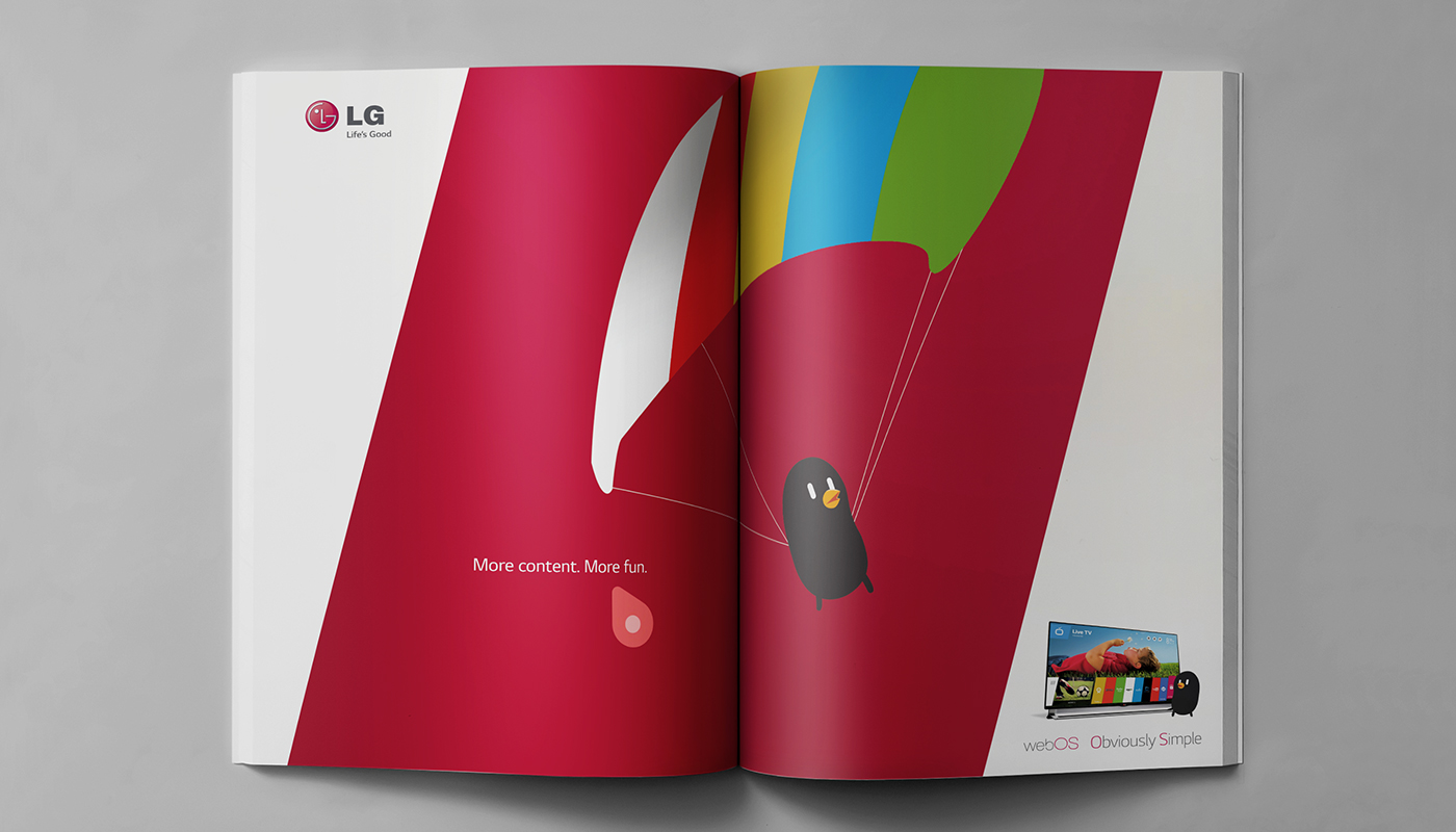 lg webOS campaign smart tv tv UI Integrated Campaign Out Door Retail out of home POP Displays Point of Purchase print advertising print interactive