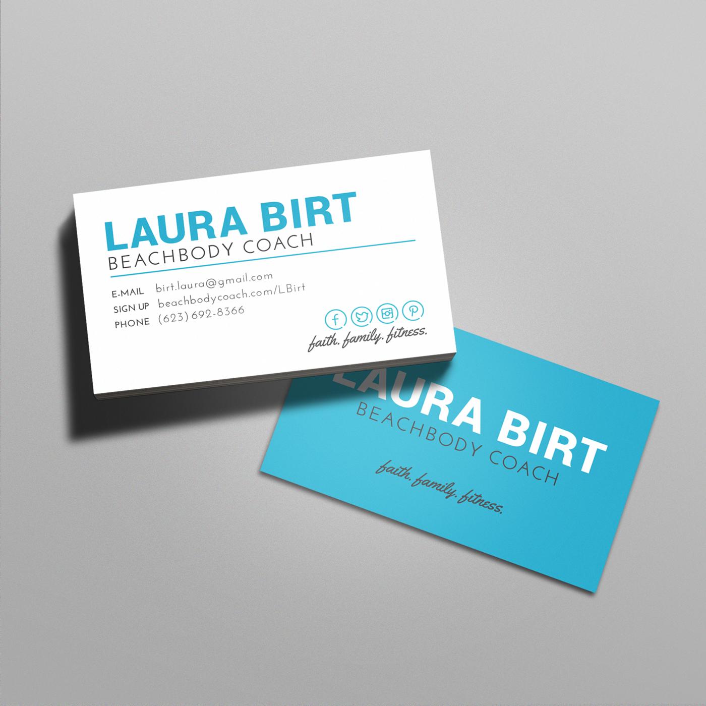 Beachbody Business CardsAlexabusinesscardprinting