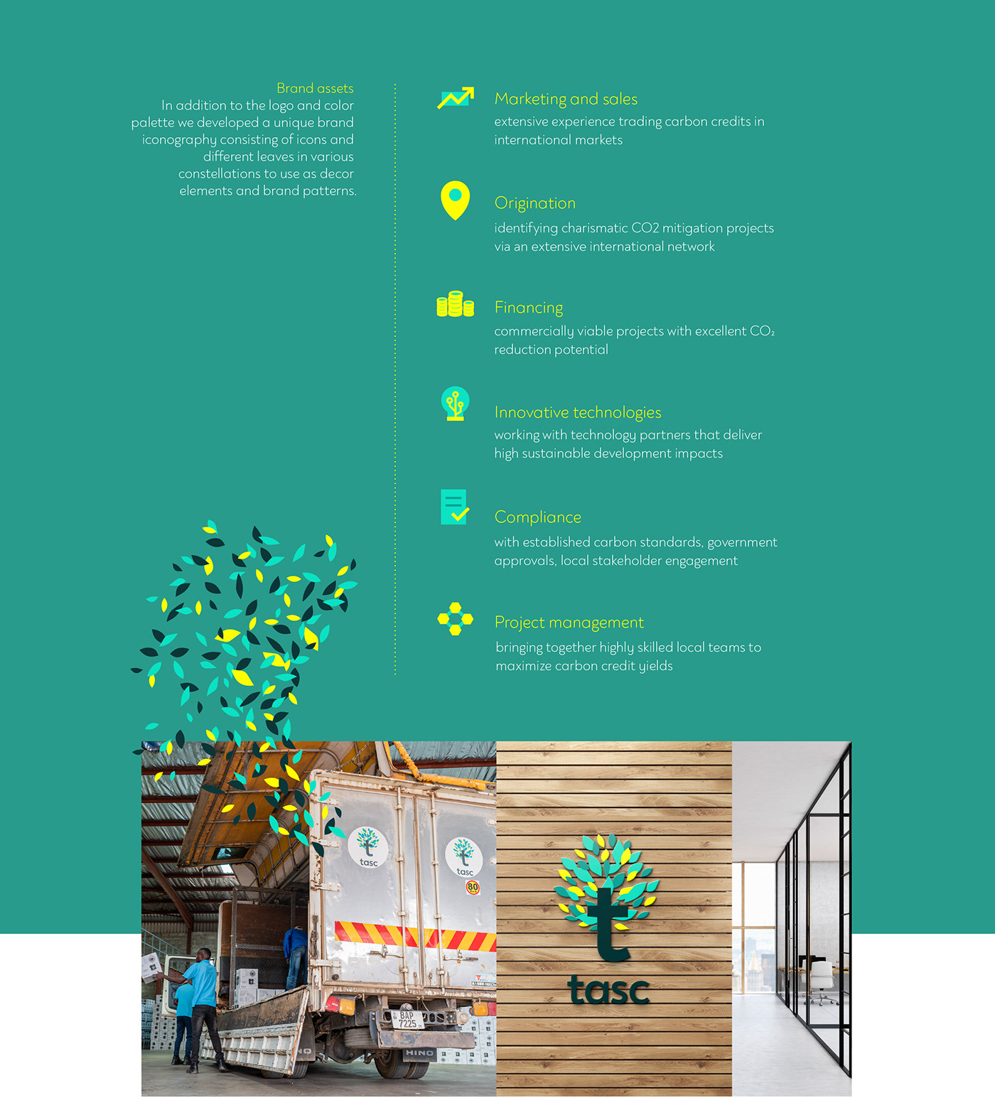 Branding for a climate mitigation company by k-tiv.com