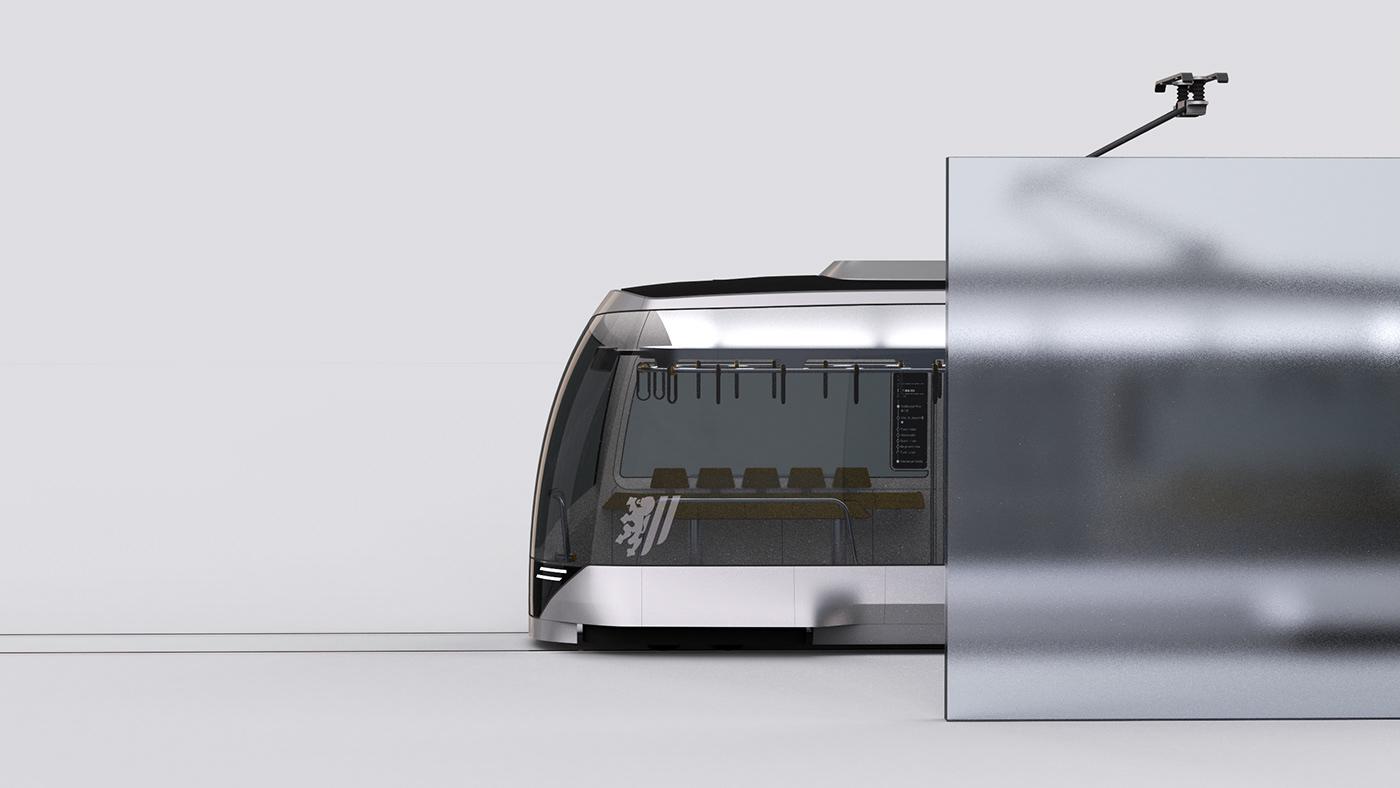 automotive   Autonomous city design industrial public public transport train tram transportation