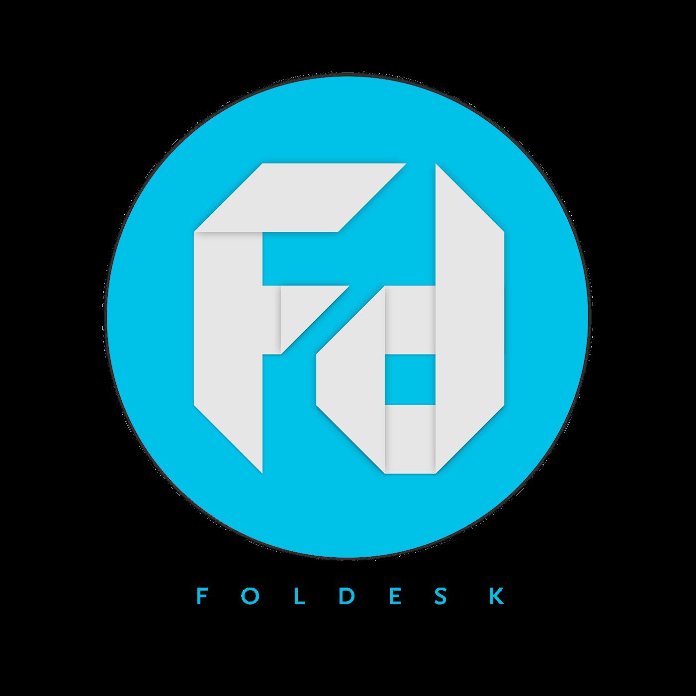 Foldesk Logo Design On Behance