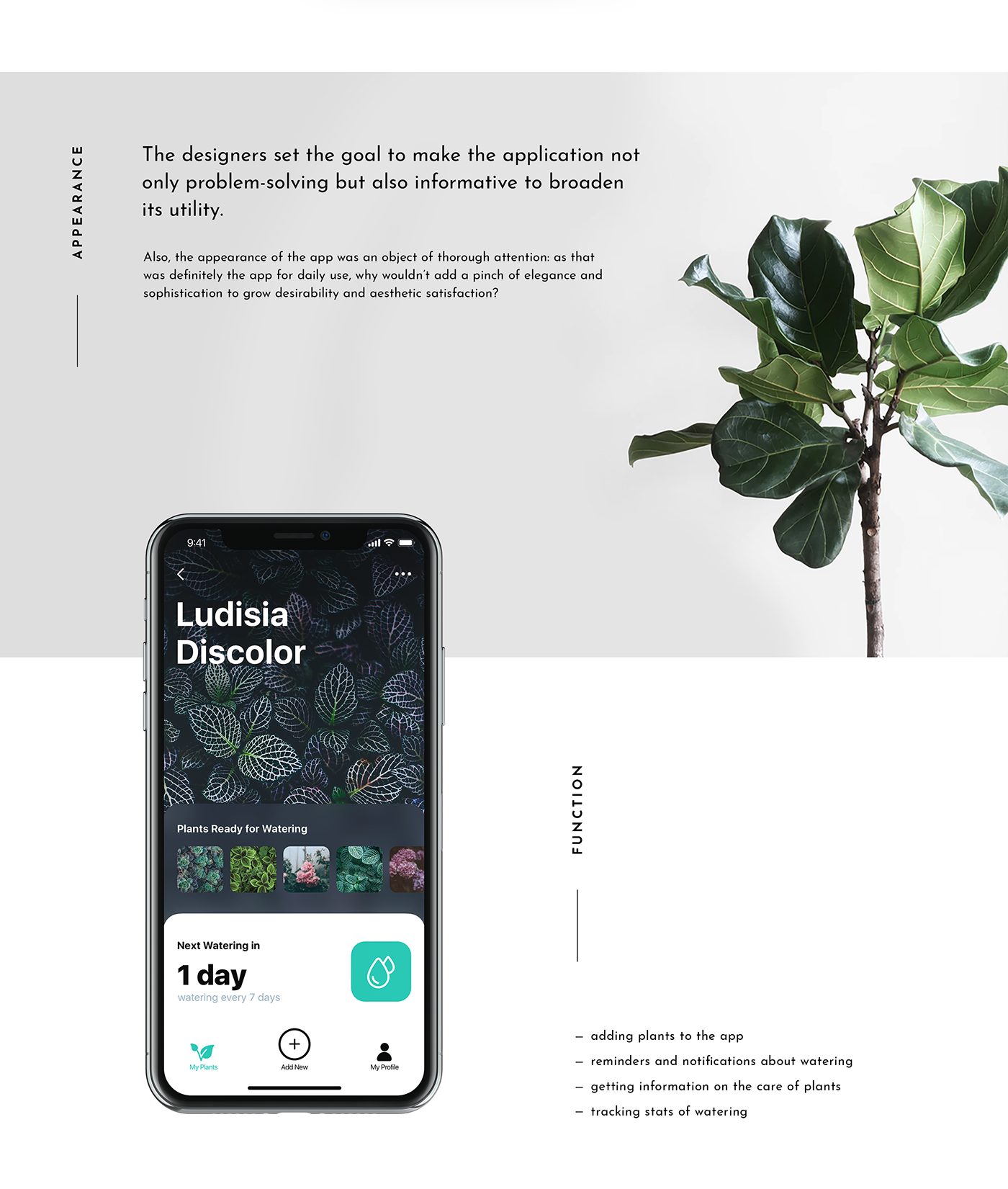 Mobile UI Design: Watering Tracker  App for Home Needs on