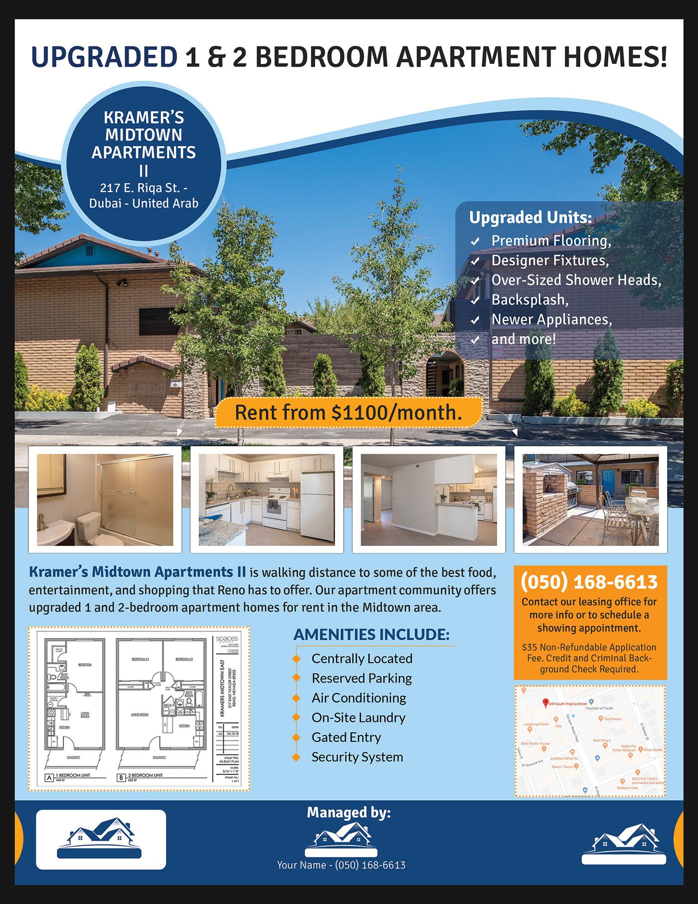 real estate flyer Home Rental rental Rent print