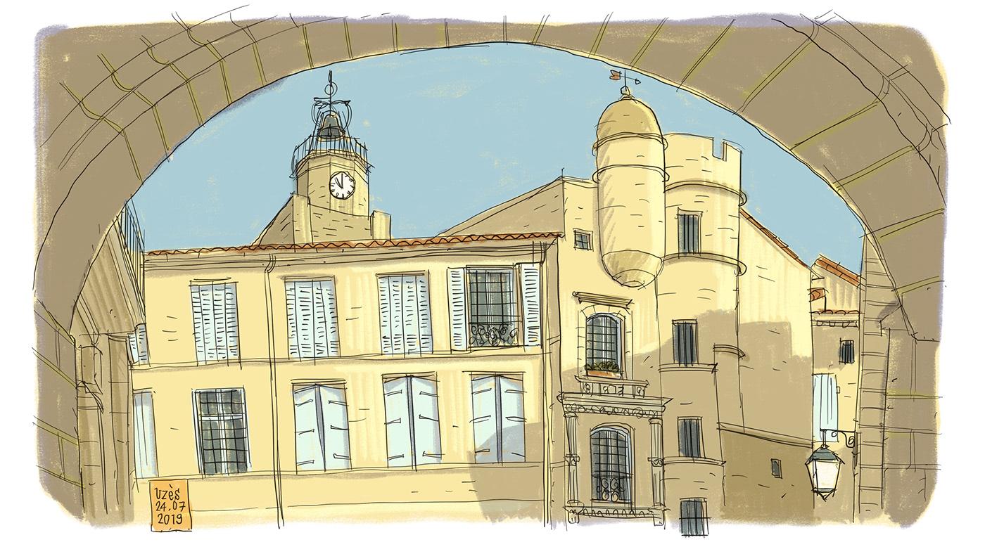 urban sketcher uzes ILLUSTRATION  croquis