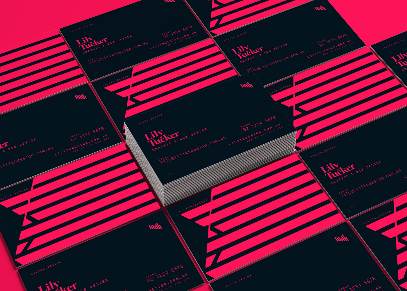 Business Cards Cyberpunk digital invoices personal branding red Website