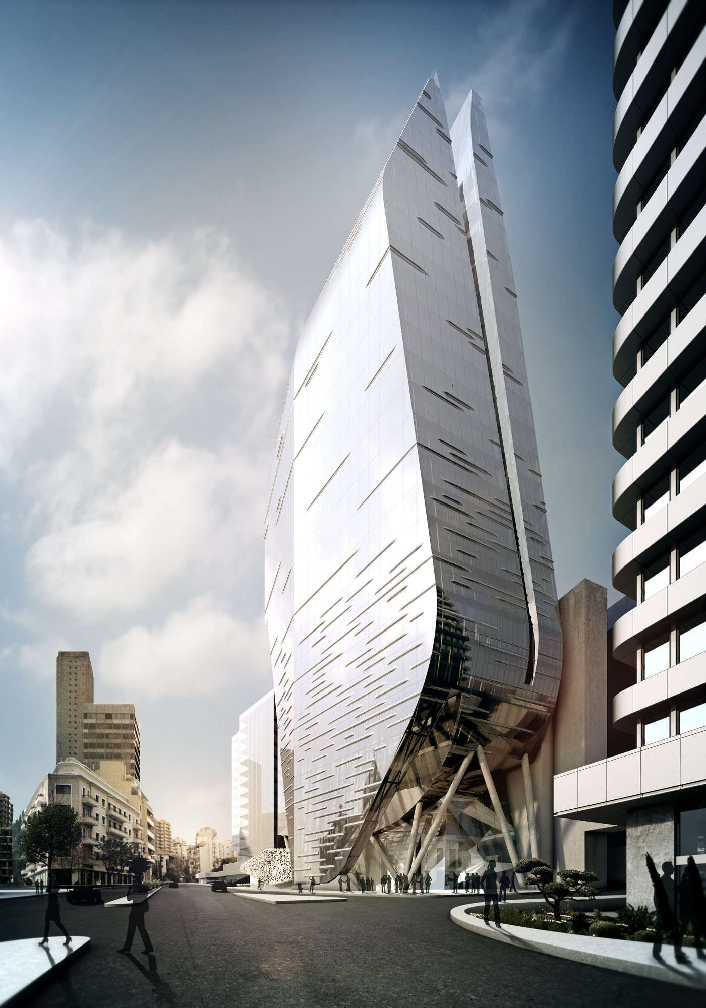 Office Facade Design Architecture