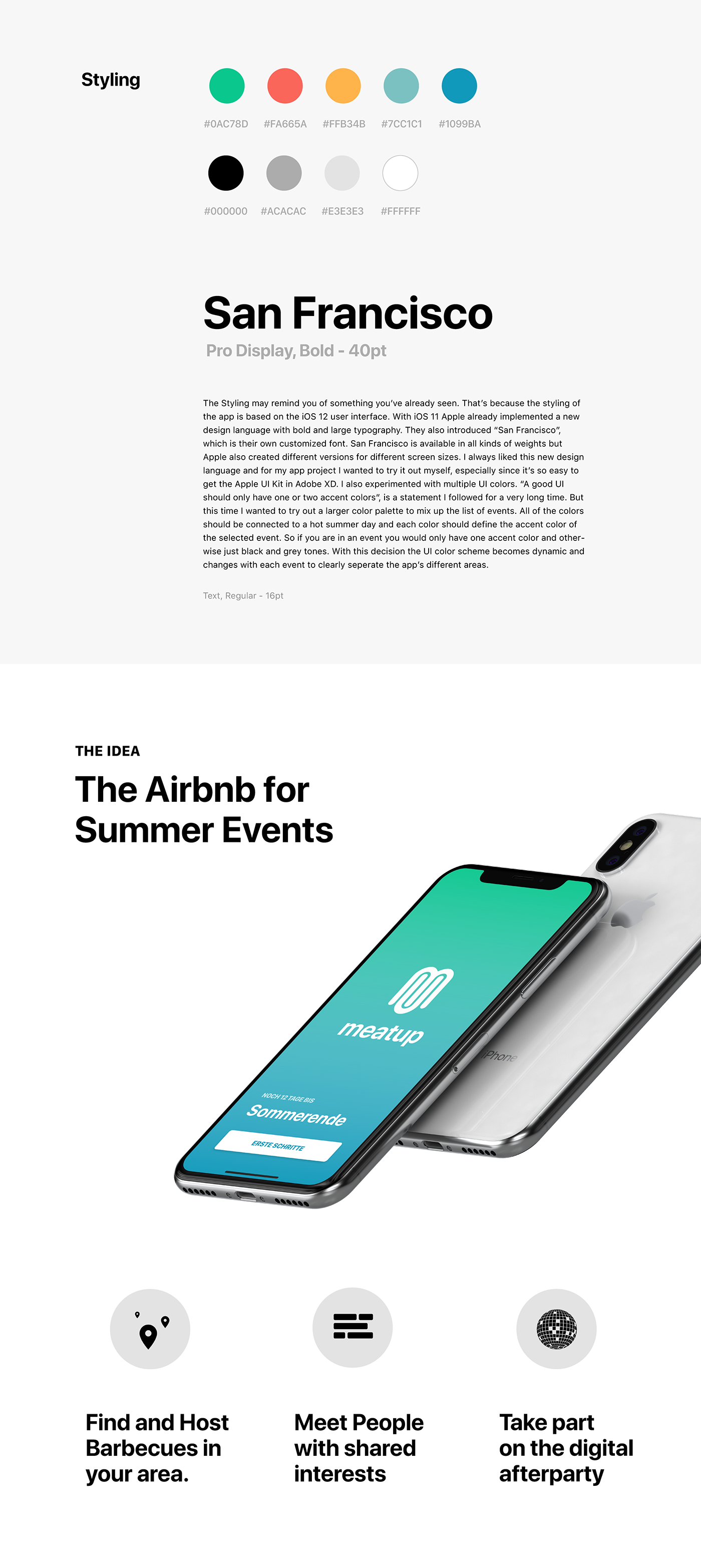 user interface iPhone x airbnb Events BBQ Adobe Live prototype user experience app design