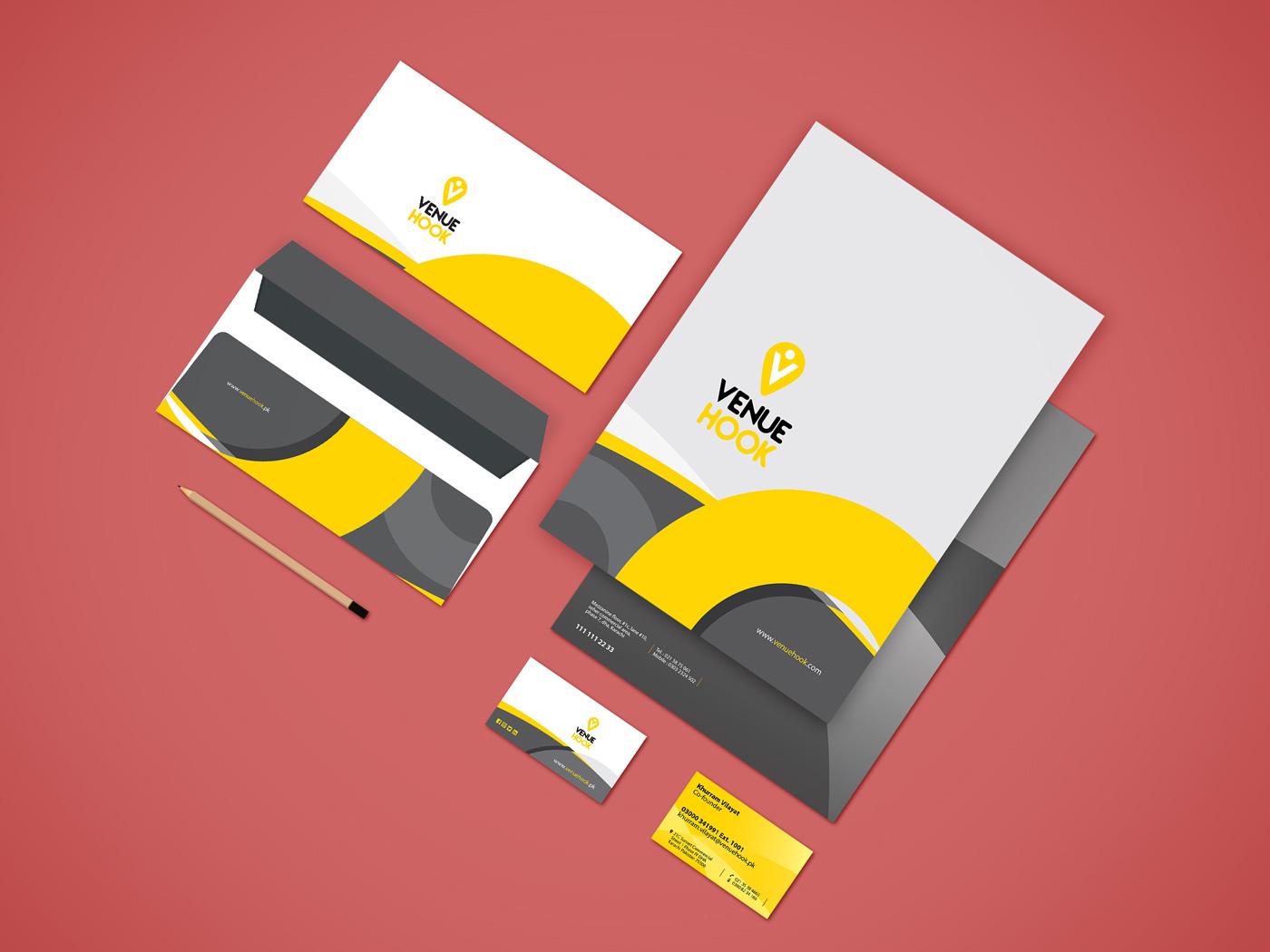 graphic design envelope visiting card venue hook print Event wedding