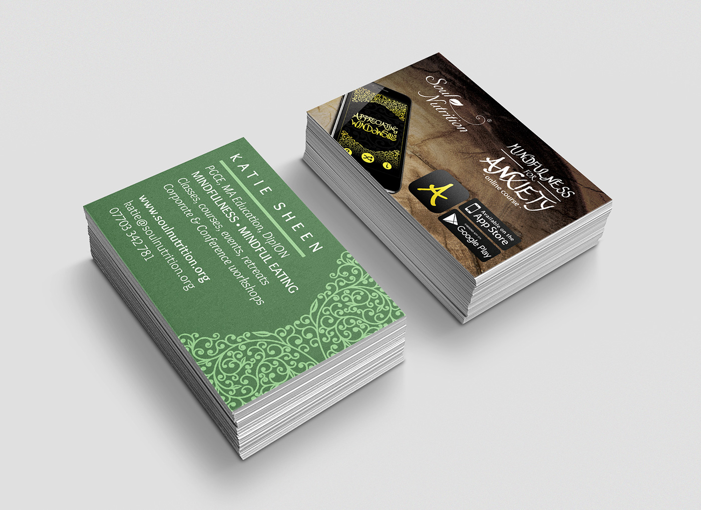 Katie Sheen Business Cards and Online Course on Behance