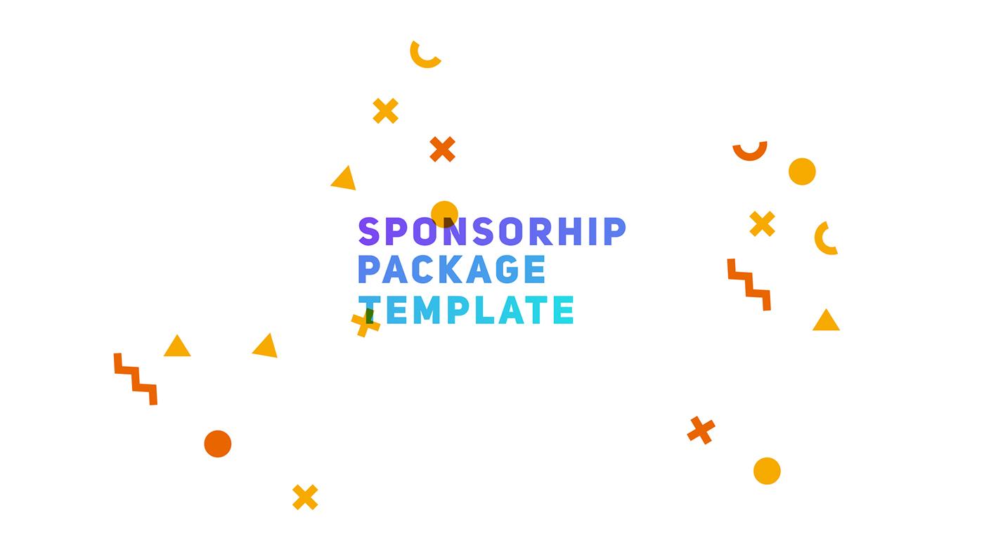 Sponsorship Package Template On Behance