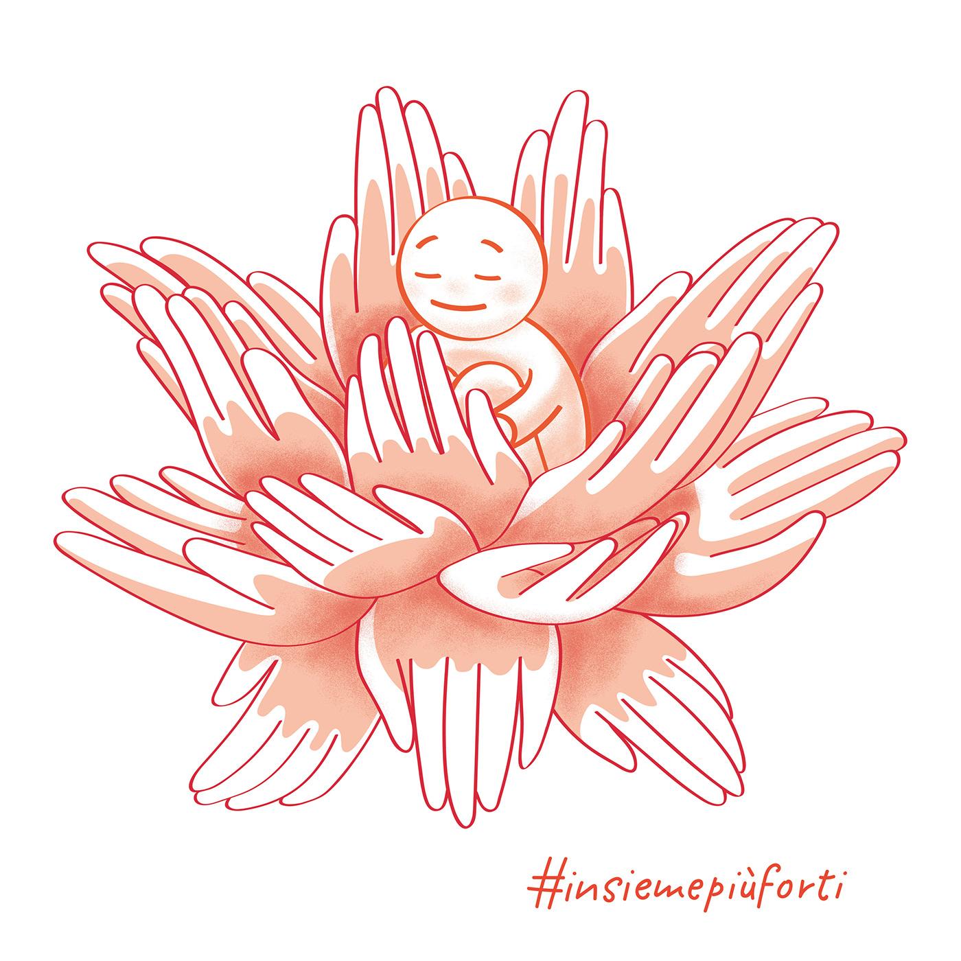 charity digital illustration Drawing  graphic illustration illustration design t-shirt tee