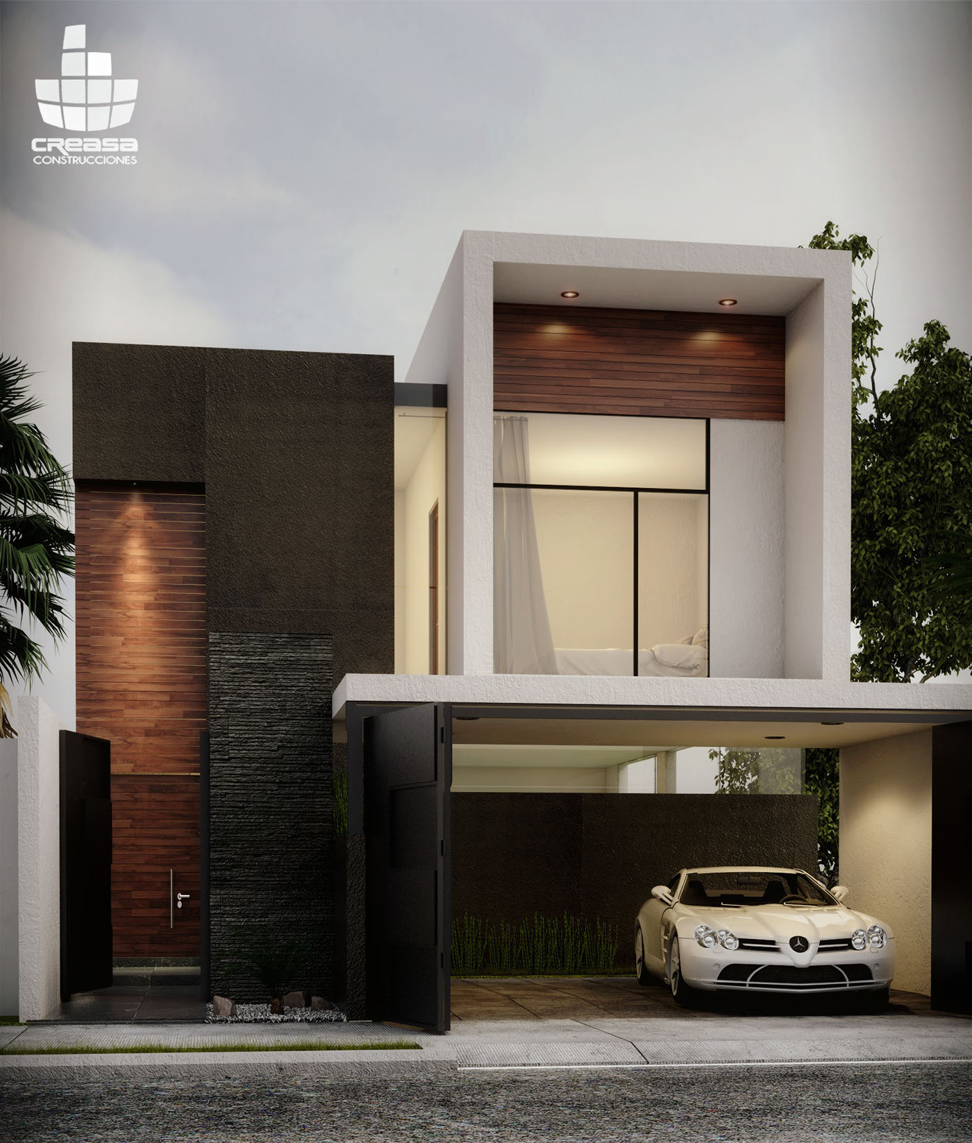 Casa jv colima 04 15 on behance for Fachadas de entradas de casas