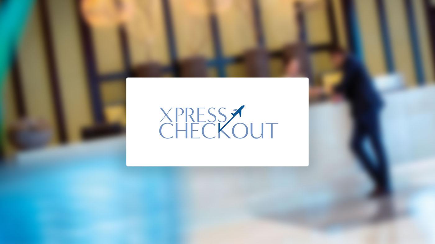 Oryx Rotana Xpress Checkout Service checkout Poser print design  Logo Design Advertising  art direction