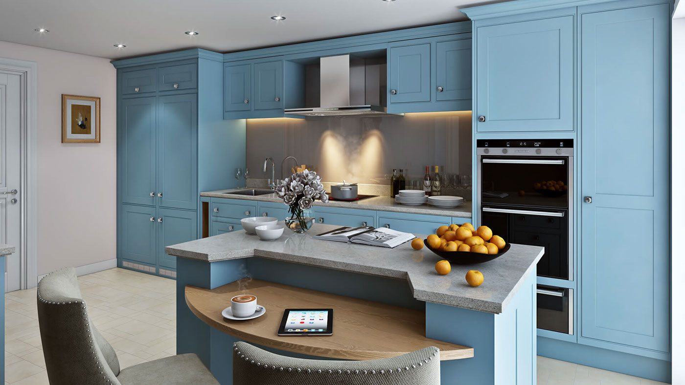 Highly professional Kitchen 3d Visualization Kithcen cabinets