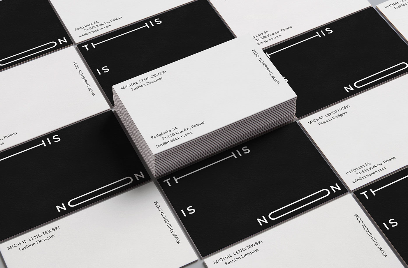 Fashion  logo black clean simple minimal design clothes poland branding
