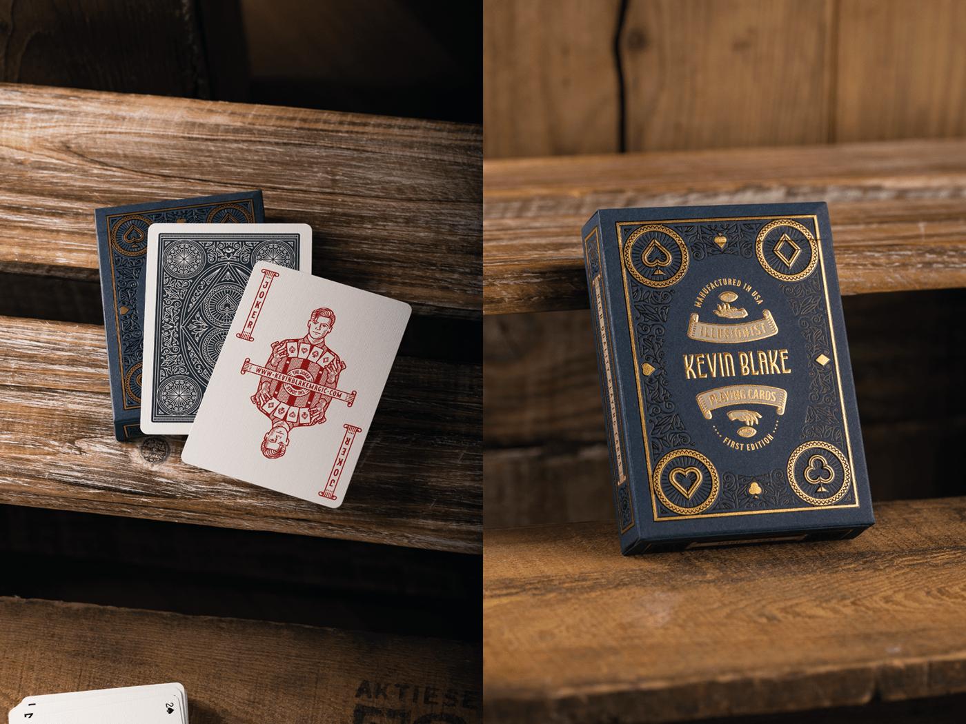 ace of spades Illusionist Illustrator joker line art Magic   packaging design Peter Voth Design Playing Cards vector