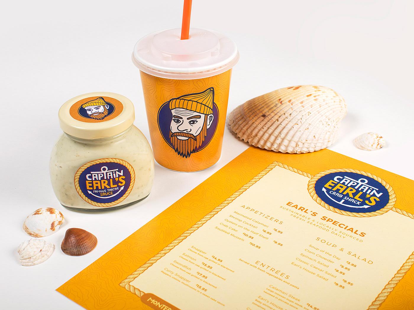 branding  brand identity Restaurant Branding restaurant handmade pattern California seafood Logo Design relief print