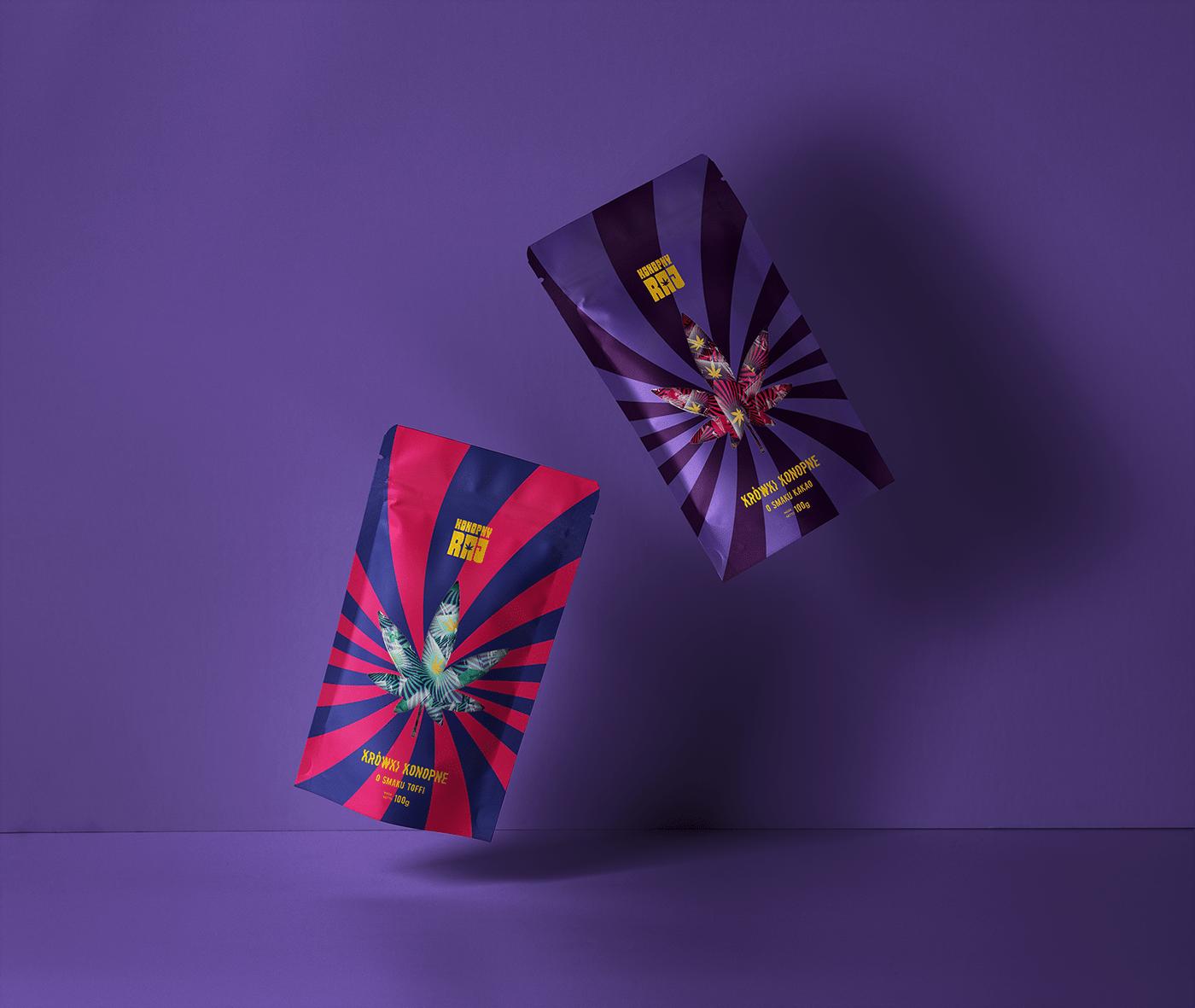 branding  Candies Candy cannabis cream fudge design hippie Packaging psychodelic sweety