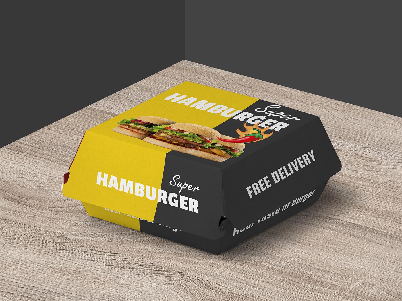 Image may contain: fast food, food and box