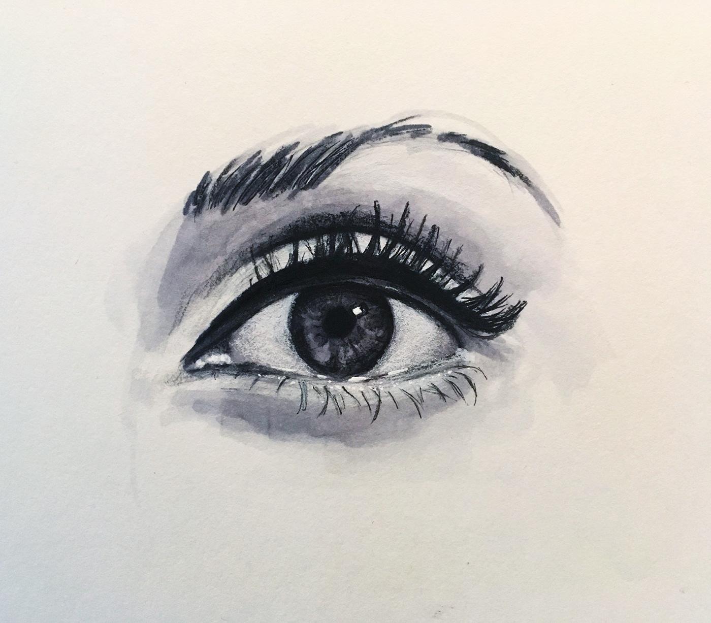 優質的24款手繪眼睛欣賞