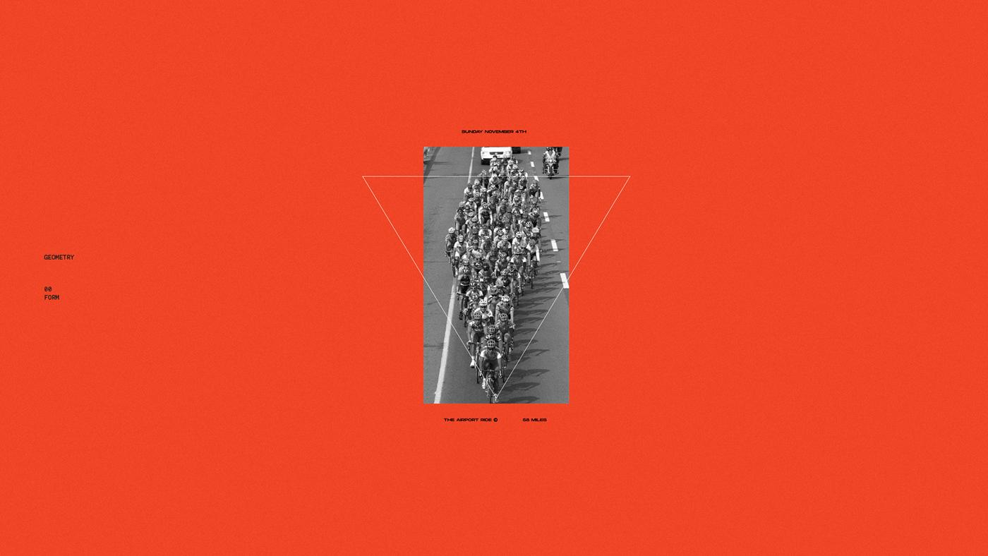 orange black Bike speed run race clean minimal conceptual geometry