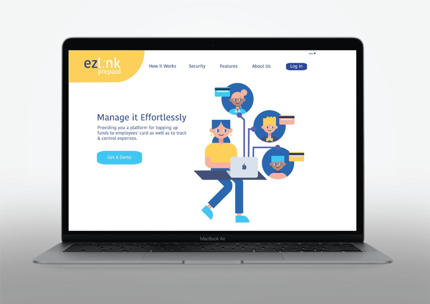 advertisement animation  branding  business collaterals credit card Debit card EZ Link  Prepaid rebranding