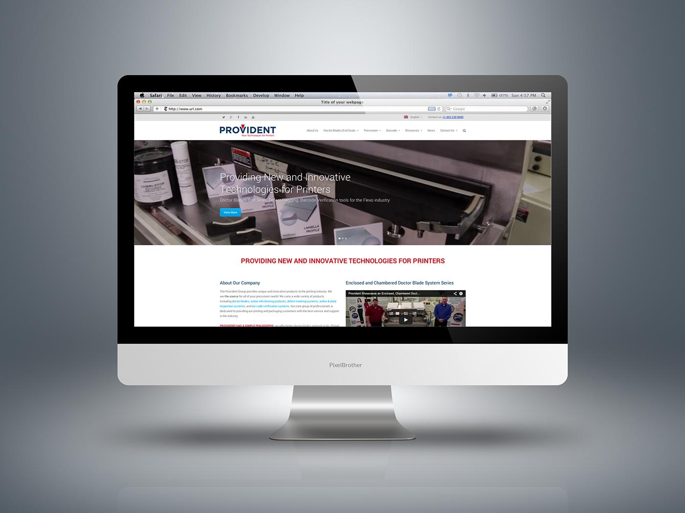 Responsive website design for manufacturer