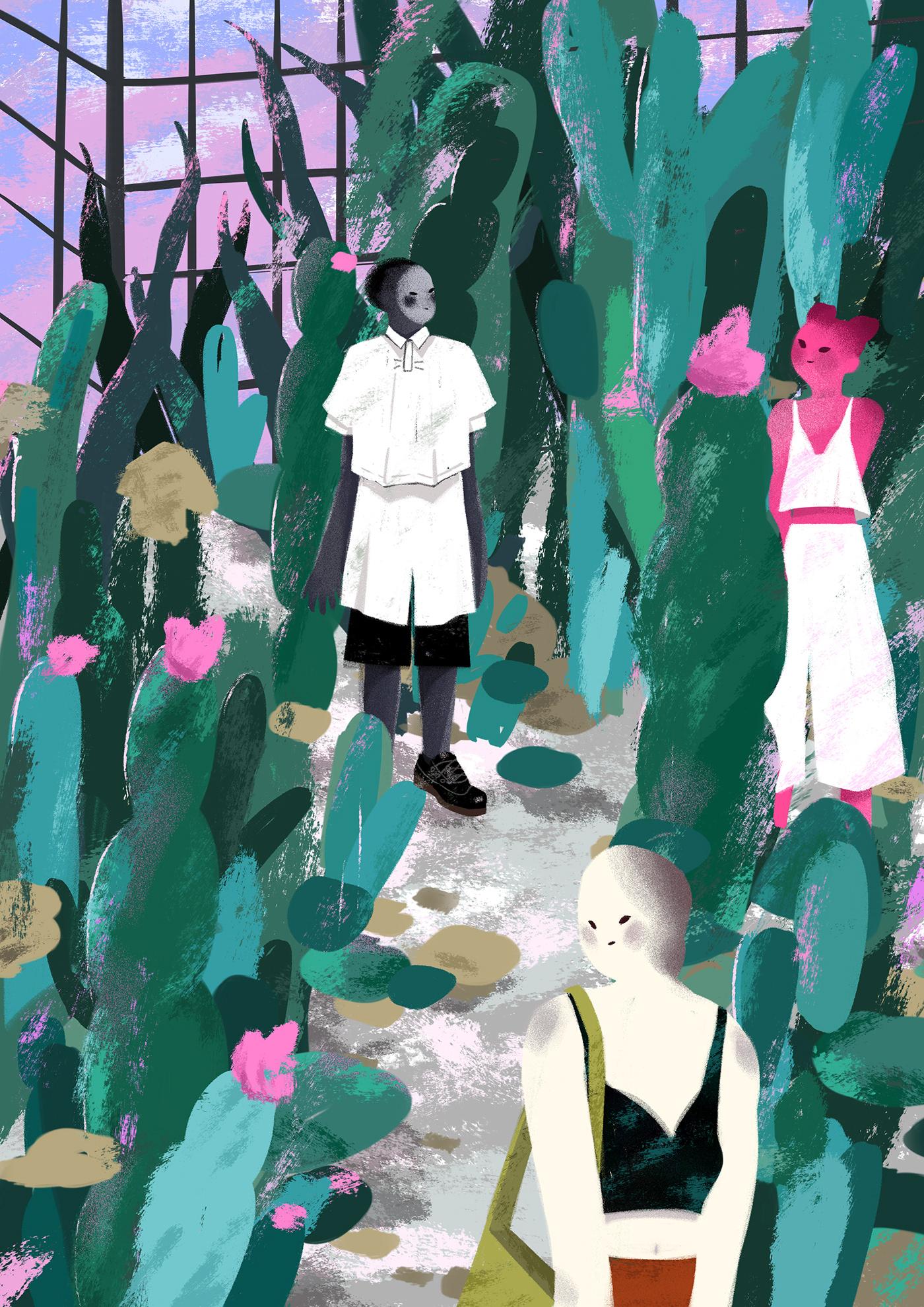 Botanical Garden Lifestyle Illustration On Behance