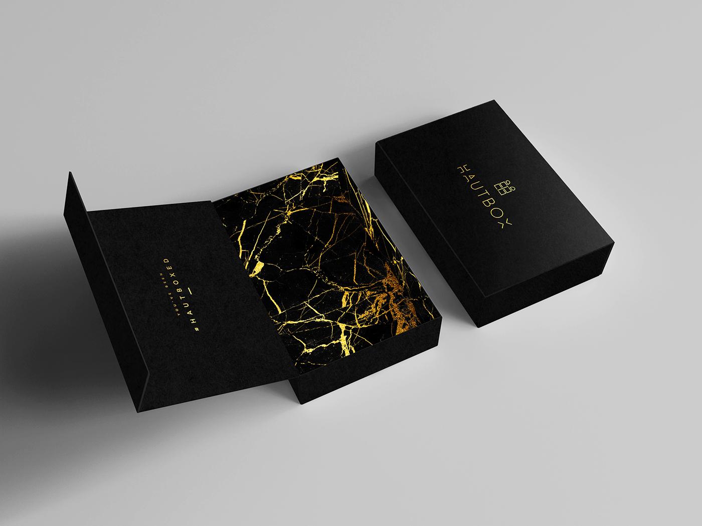 brand identity packaging design luxury packaging luxury brand gold packaging Marble gold foil Brand Design chic fashion brand