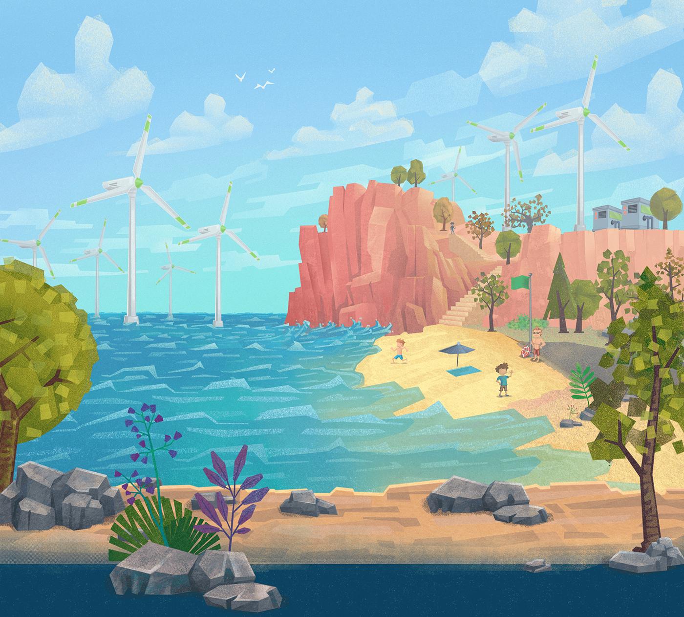 ILLUSTRATION  energy Education kid Character animation