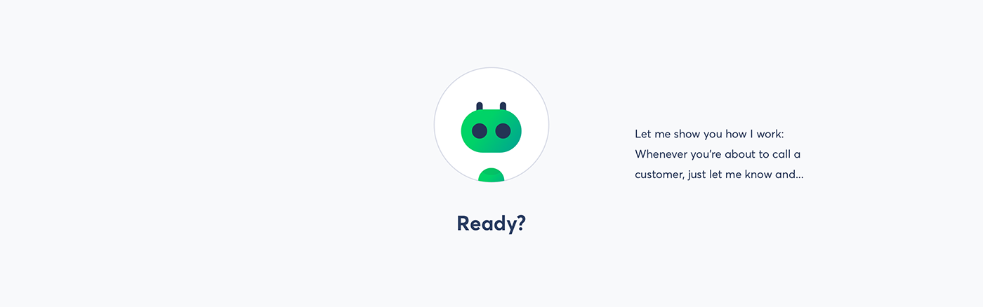 app ASSISTANT Chat Chatbot Design Sprint presales team UI lead scoring Speech Recognition