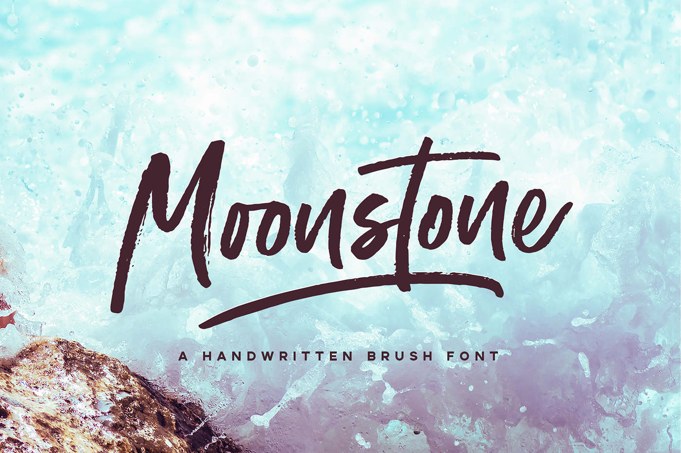 Moonstone Brush Font Is A Unique Handwritten Its Flow And Style Makes It Perfect To Use For Prints Logos Signatures Quotes Badges