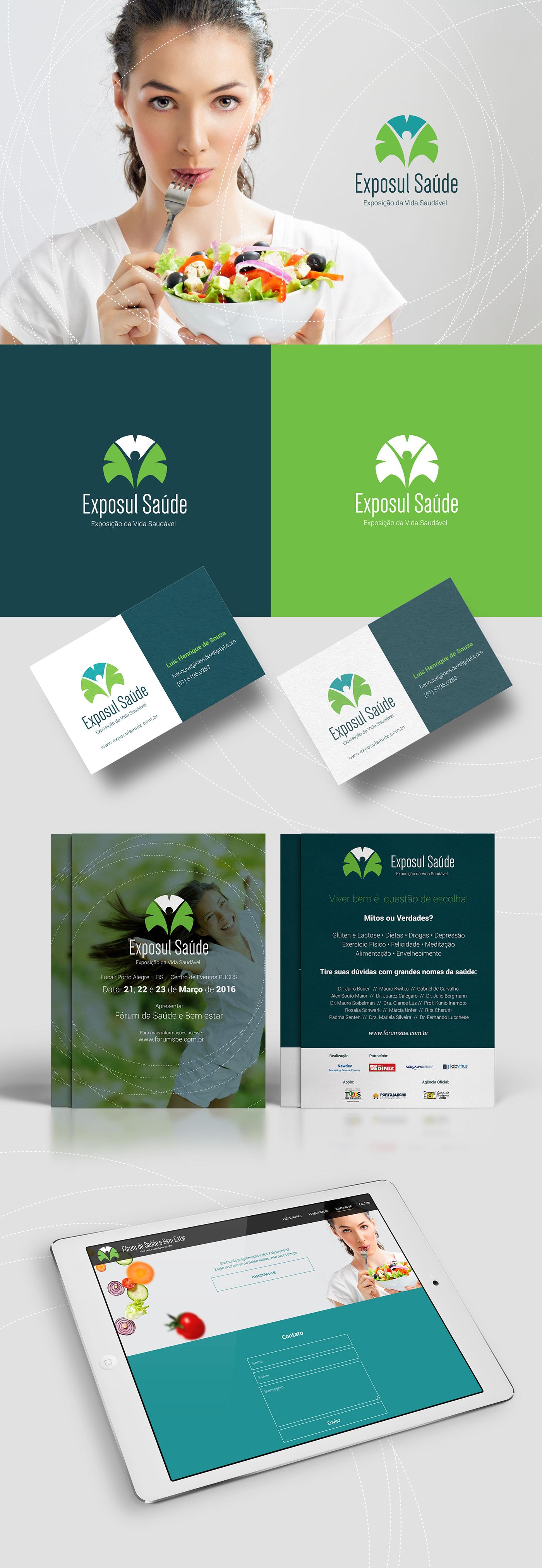 saúde helth forum bem estar Evento logo brand HotSite Interface