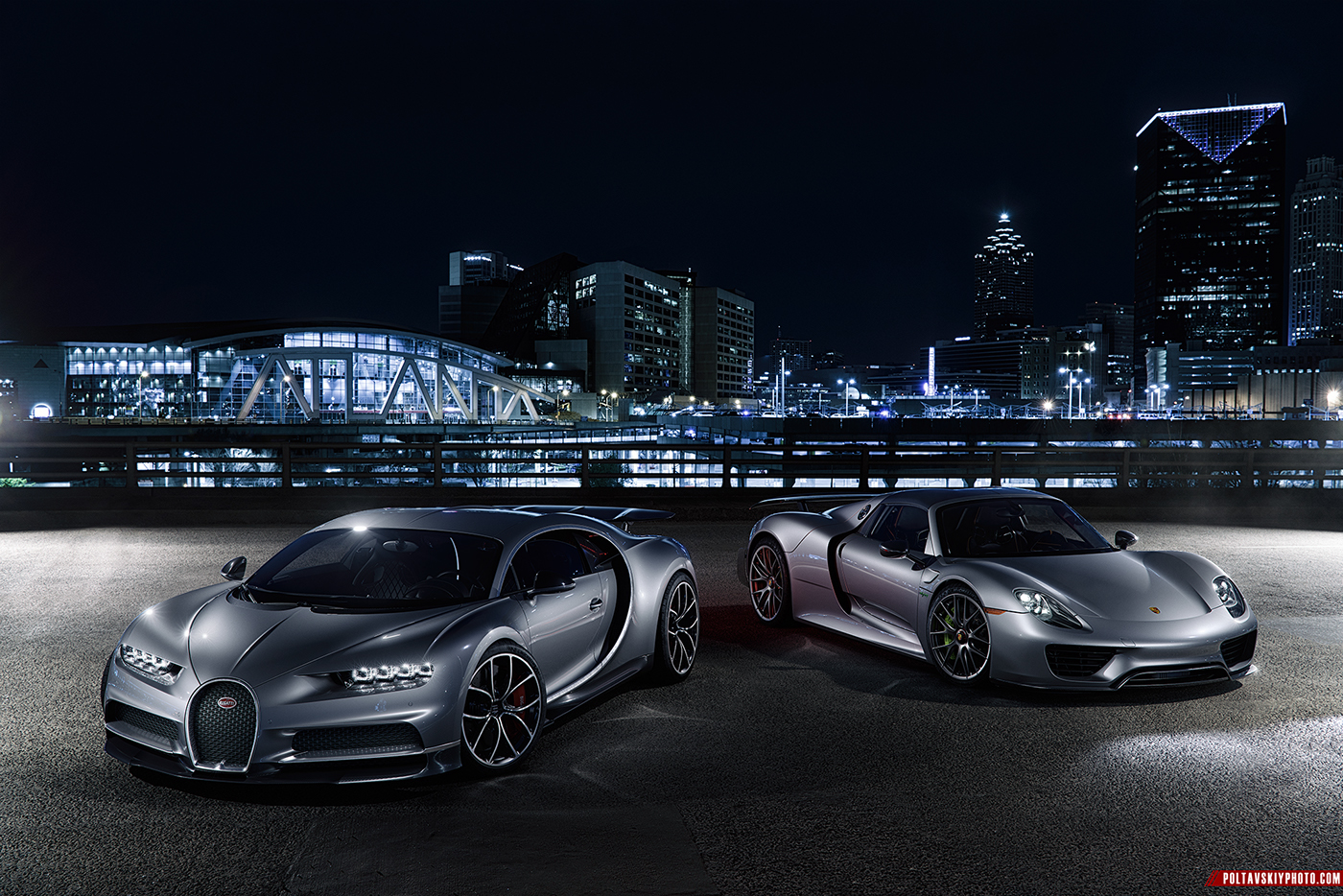 Bugatti Chiron Porsche 918 Cgi Amp Retouching On Behance