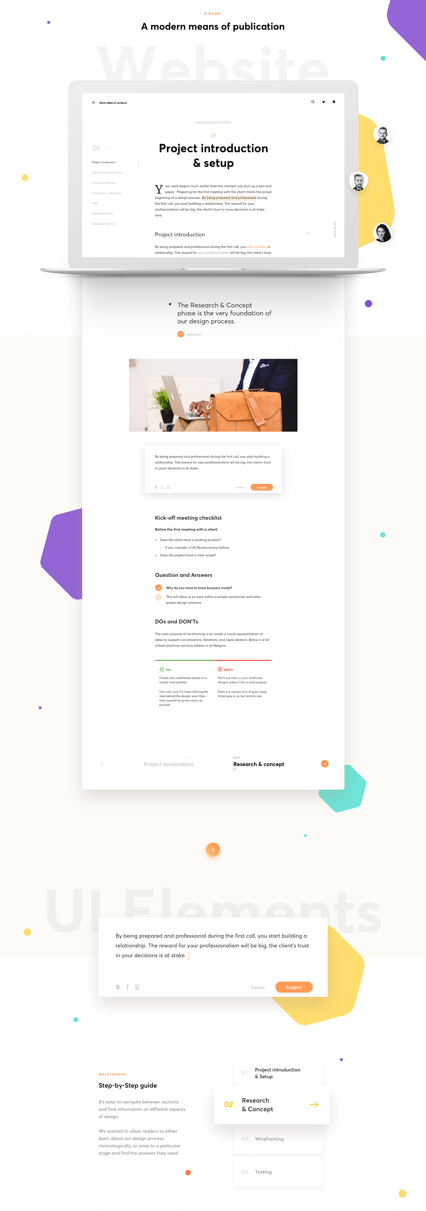 ebook publication design process resource Guide design research wireframing