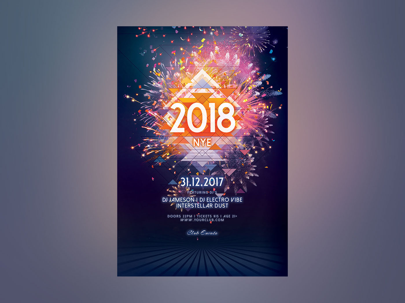 New Year Flyer on Behance