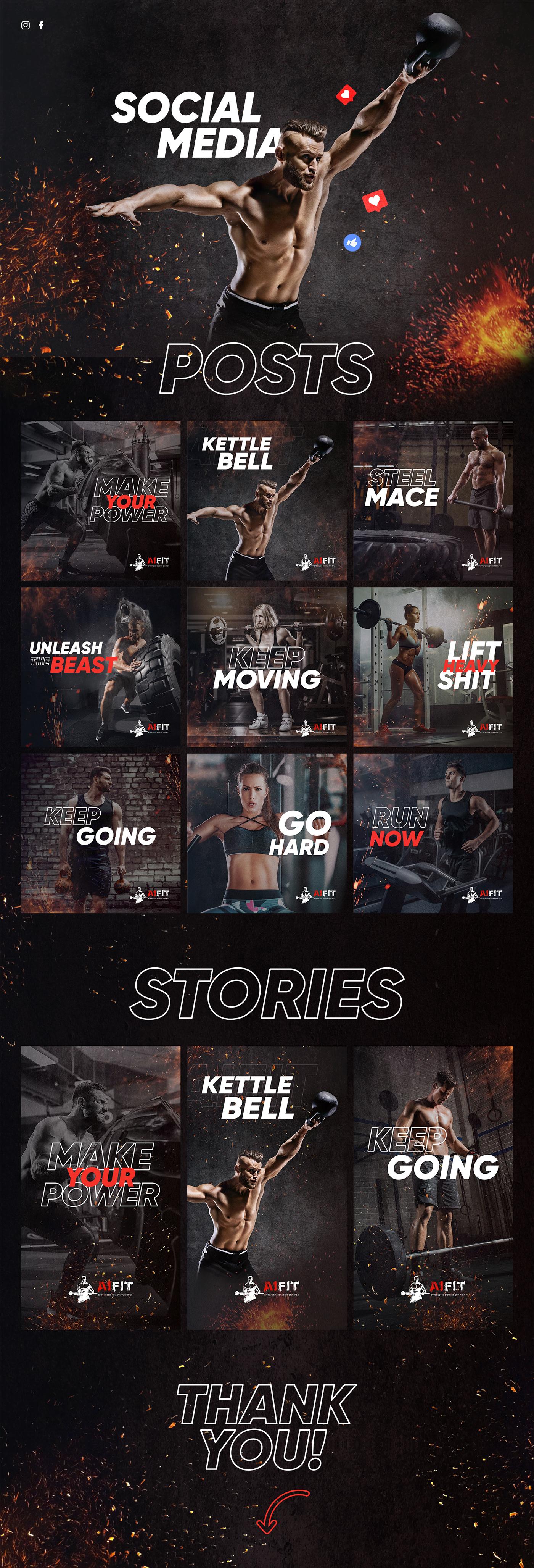 Crossfit motivation social media workout design FIT gym fitness instagram facebook