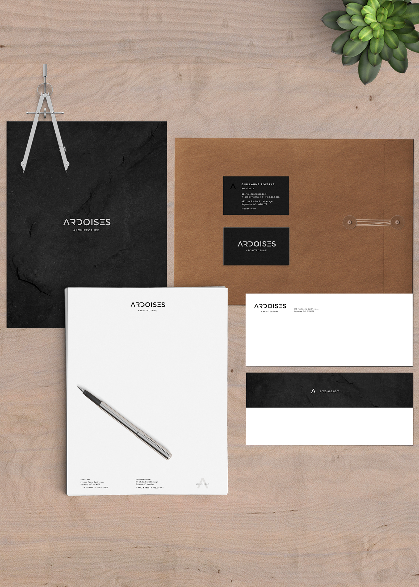 graphic design  architecture branding  typography   logo design graphique geometric Stationery Business Cards