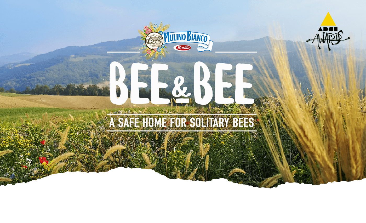 advert agricolture bees future green OOH solitarybees Sustainability