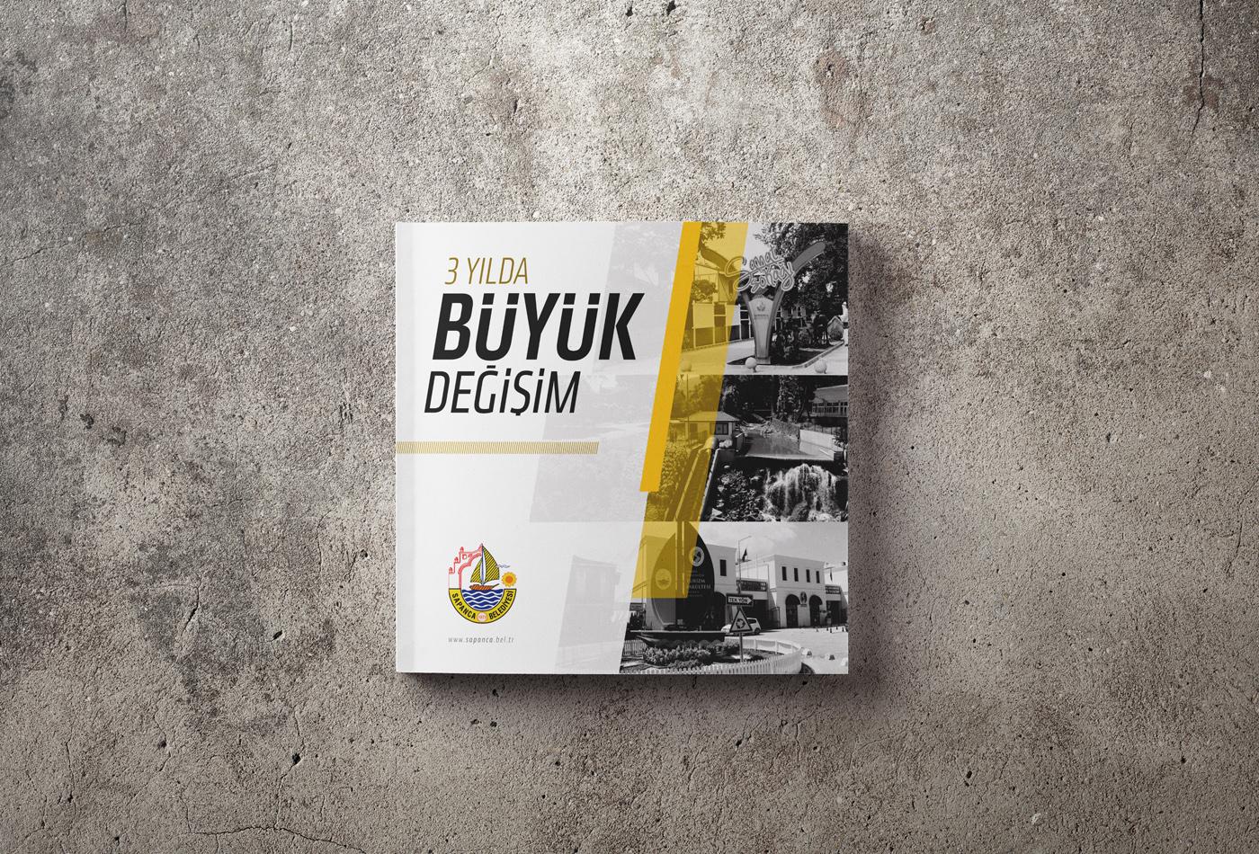 baskı hizmet katalog kurgu ofset sapanca belediyesi tasarım