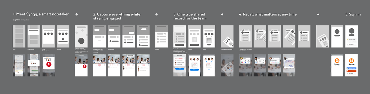 Onboarding video animation  notes meetings