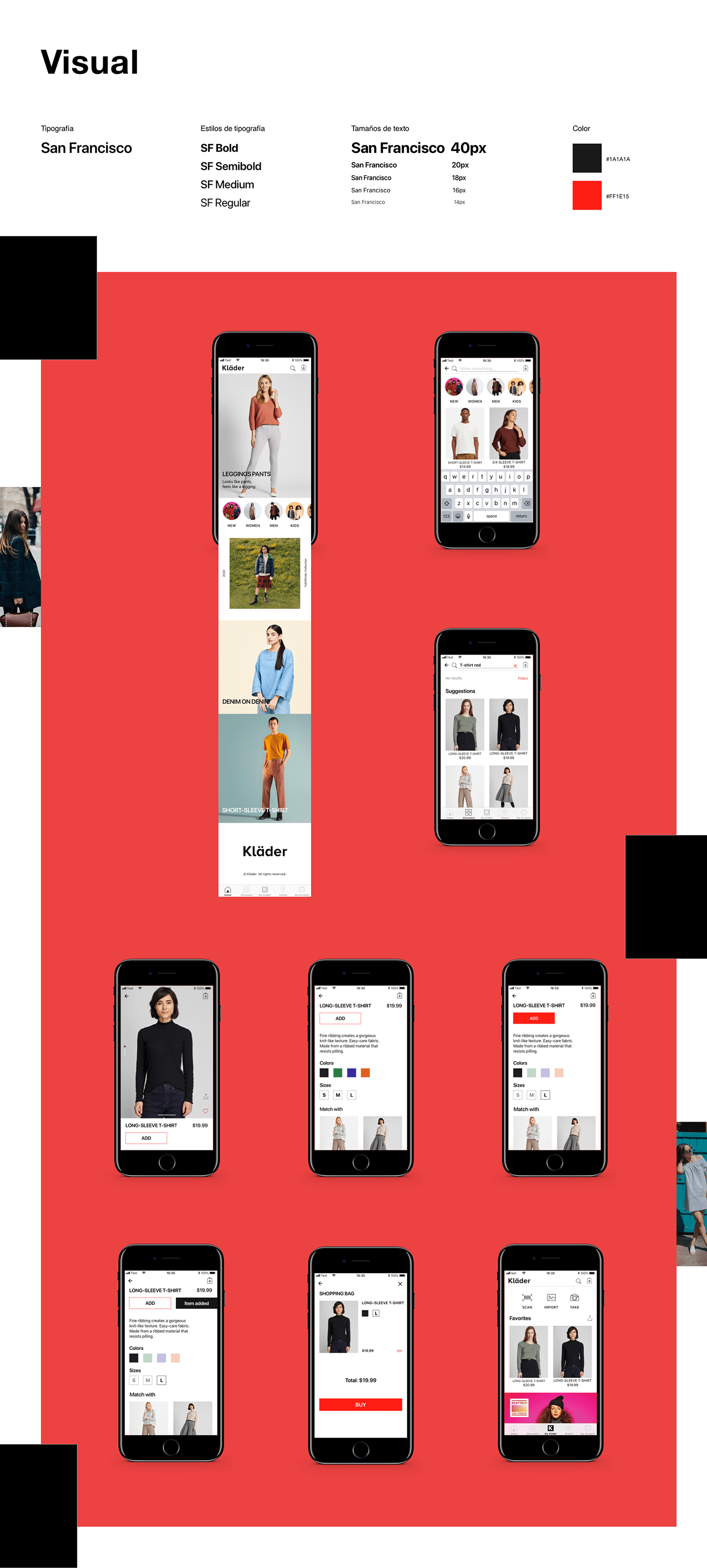 app e-commerce Fashion  interaction iosapp iphone motion photo UI ux