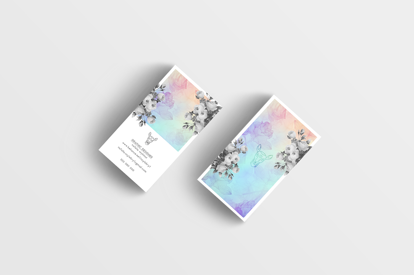 Business Card for Graphic Designer on Behance