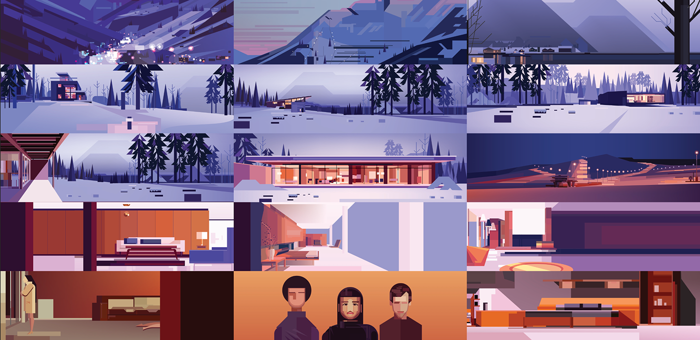james gilleard Fassine music video animation  cinematic