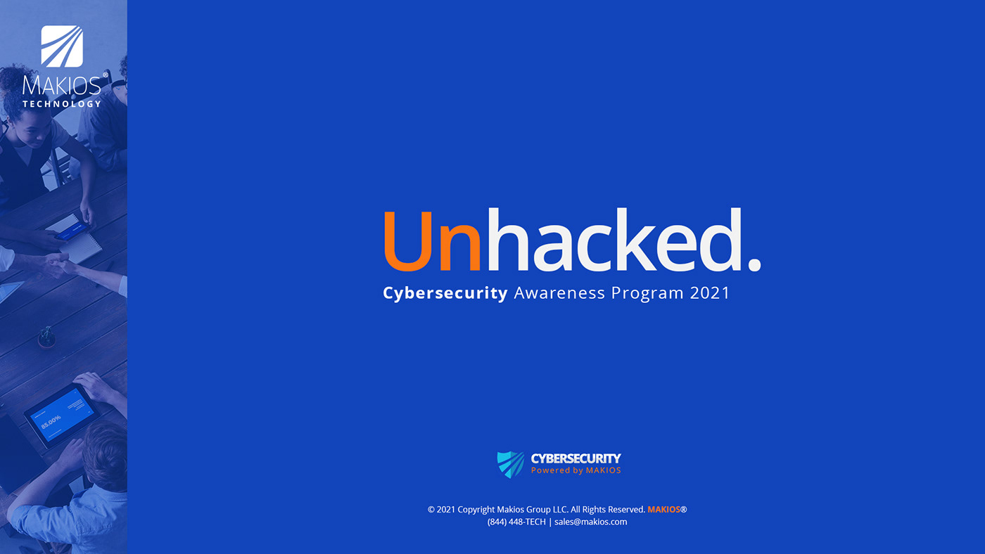 cybersecurity landing page makios presentation unhacked
